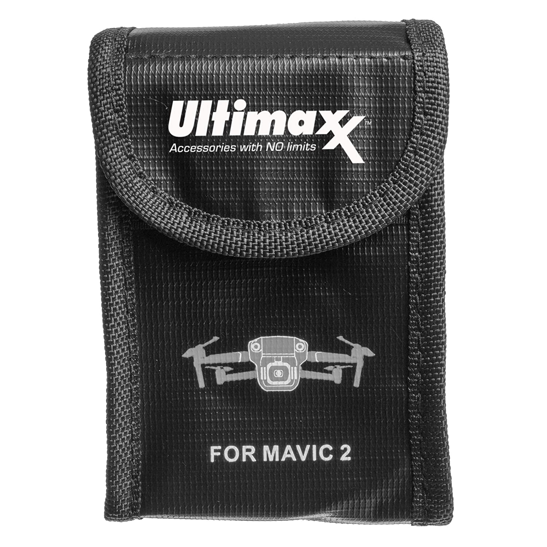 Ultimaxx Mavic 2 Battery Safe Bag Explosionproof Resistant Battery Charging Storage Fireproof Battery Portable Bag DJI Mavic Pro/DJI Mavic 2 Zoom/Pro (2 Pack)