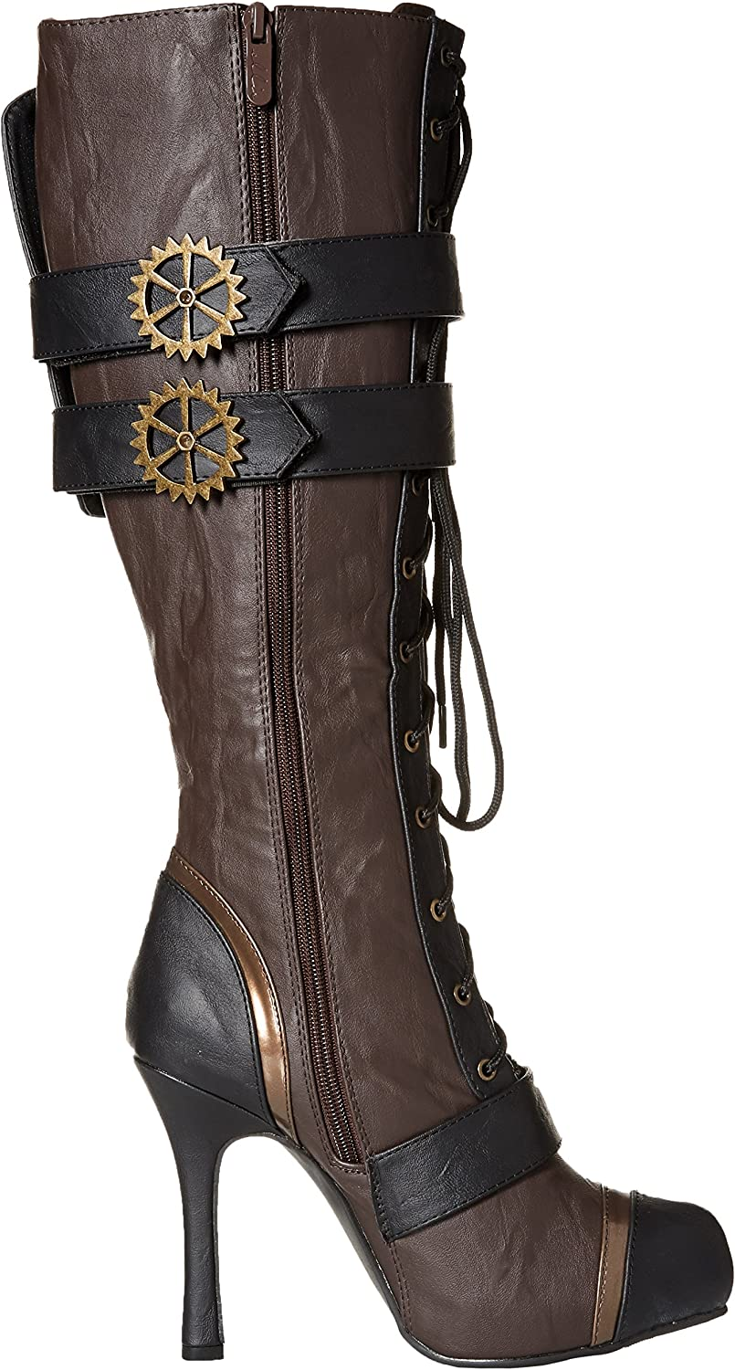 11 Size ELLIE 420-QUINLEY 4 Knee High Steampunk Boot With Laces Women Green