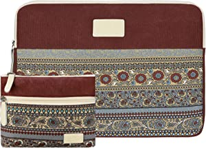 Case Star 13-13.3 inch Laptop Sleeve MacBook Canvas Bag Cover Compatible 2018 New MacBook Air 13 A1466 A1932 Retina Display/MacBook Pro 13 A1708 A1706 with Small Case (Wine red)