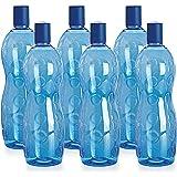 Cello Polka PET Bottle Set, 1 Litre, Set of 6, Blue