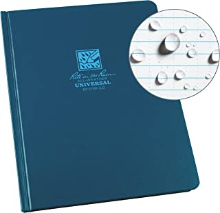 "product image for Rite In The Rain Weatherproof Hard Cover Notebook, 6.75"" x 8.75"", Blue Cover, Universal Pattern (No. 270F-LG)"