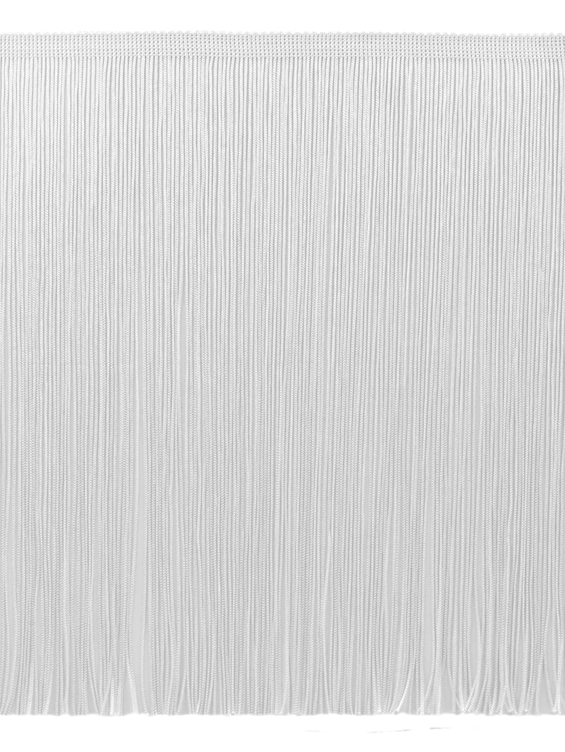 DecoPro 11 Yard Value Pack of 12 Inch Chainette Fringe Trim, Style# CF12 Color: White - A1 (32.5 Feet / 10M)