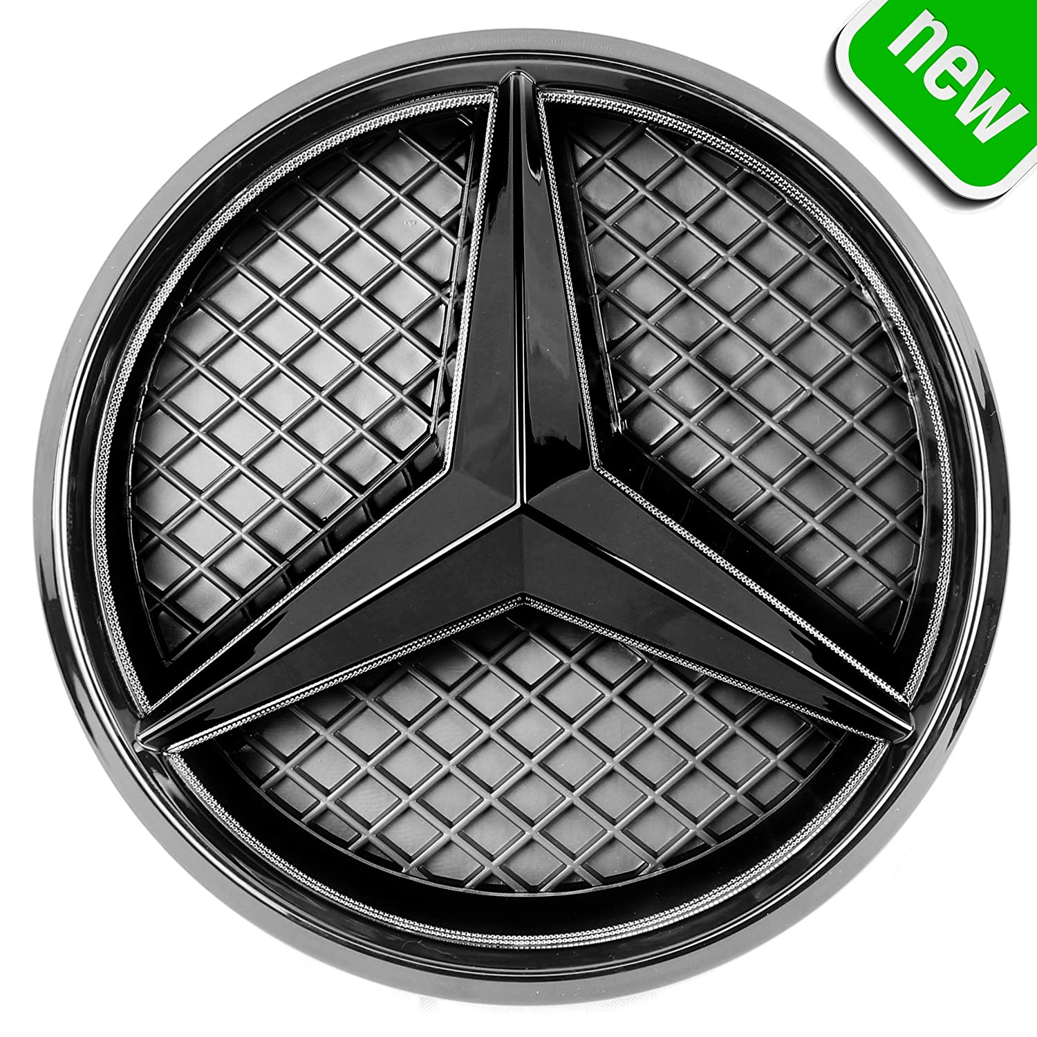 Front Car Grill Badge Auto Illuminated Logo Drive Brighter Glowing Star Lights White DRL Daytime Running Lights JetStyle LED Emblem 2011-2016