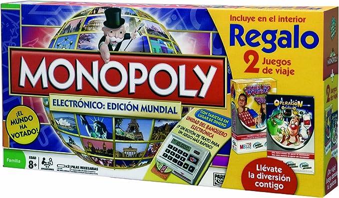 Hasbro Monopoly Electronico: Edicion Mundial 98887500 - Juegos en ...