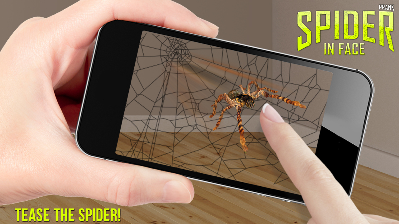 Amazon Com Spider In Face Prank Appstore For Android