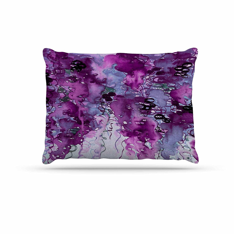 KESS InHouse EBI Emporium Beauty in The Rain, Purple Plum Lavender Dog Bed, 30  x 40