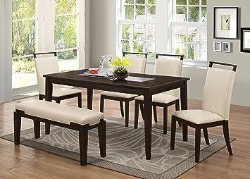 Amazon.com: Winchester - Mesa de comedor con marco de madera ...