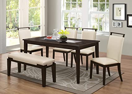 Pleasant Amazon Com Winchester Durable Wood Frame Dinner Table With Interior Design Ideas Oxytryabchikinfo