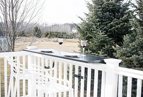 Terraza Bar Top Rail Table with Hardware White