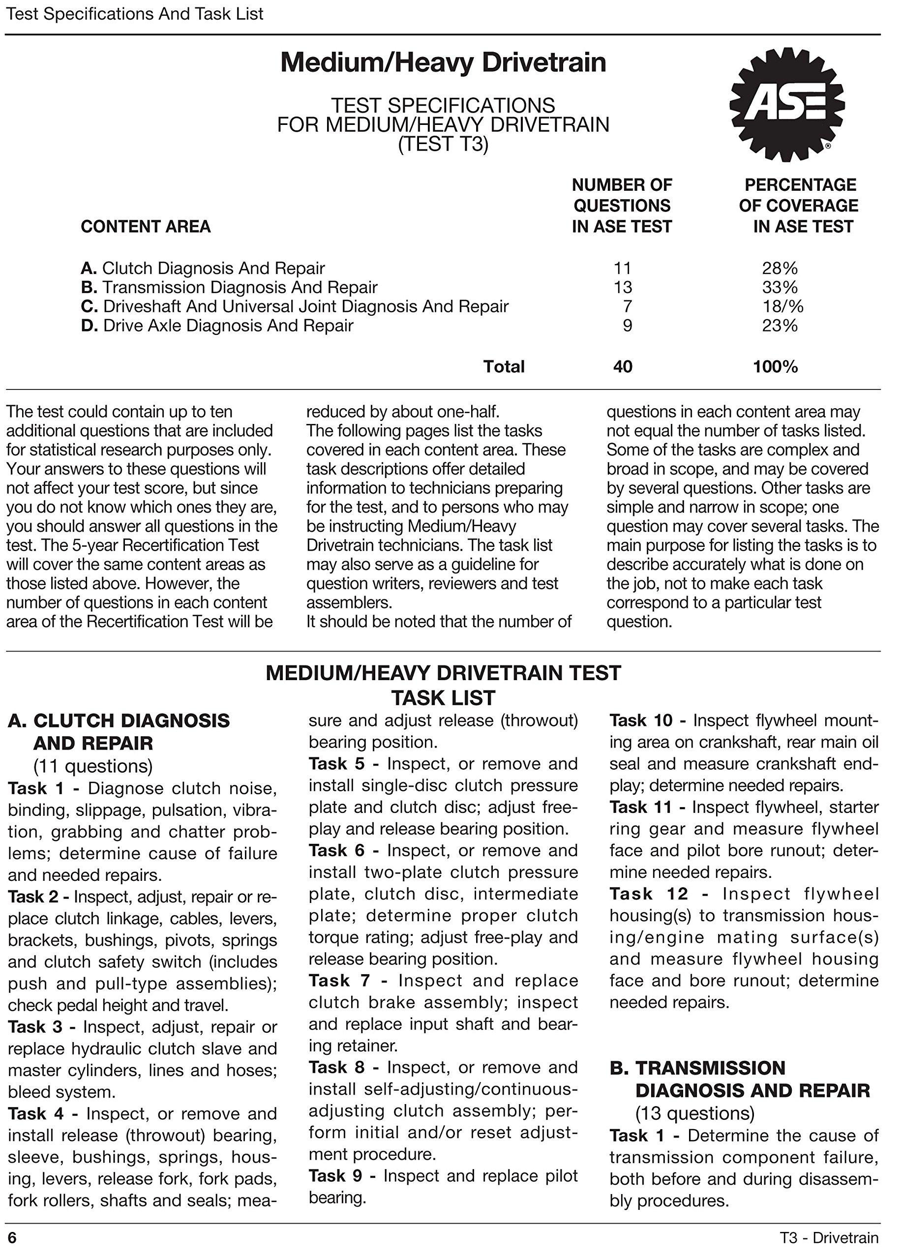 Ase Certification Test Preparation T3 Drivetrain Motor Age
