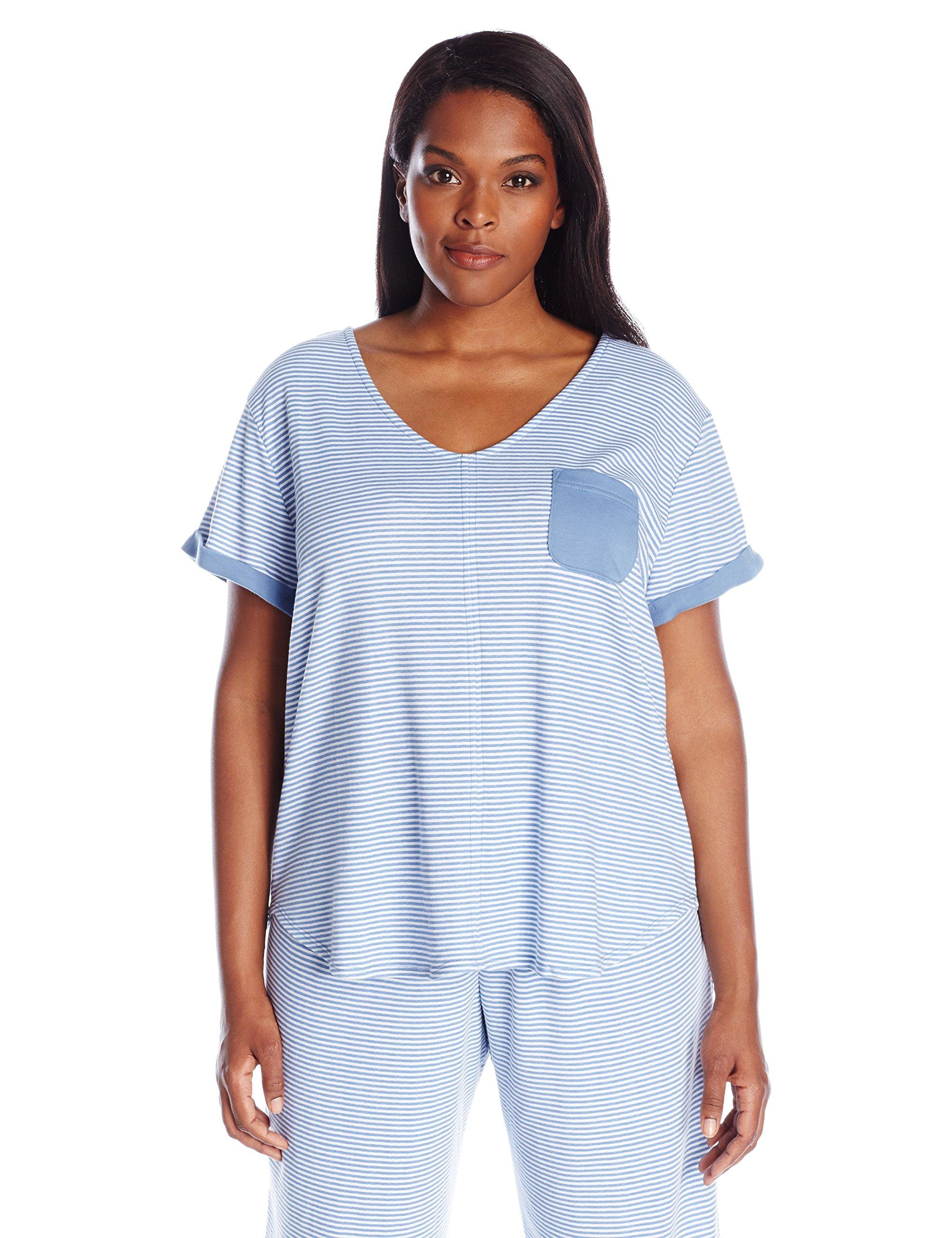 Karen Neuburger Plus Size Women's Short Sleeve