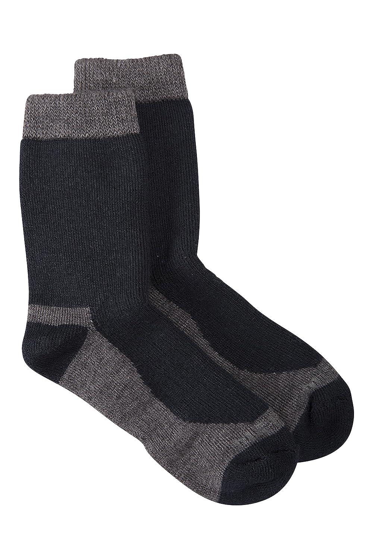 Mountain Warehouse Calcetines térmicos Merino para niños: lana Merino suave y cálida, naturalmente antibacteriano, costuras finas para los dedos de los pies ...