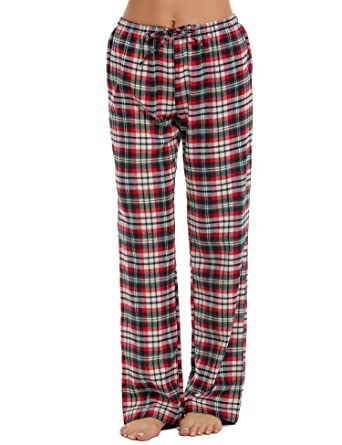 f128967d601 Ekouaer Pajama Pants Womens Long Cotton Pj Bottoms with Elastic Waist   Amazon.co.uk  Clothing