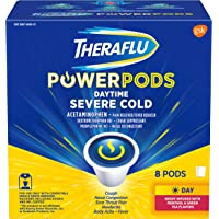 8-Count Theraflu PowerPods Daytime Severe Cold Medicine, Berry with Menthol & Green Tea Flavors