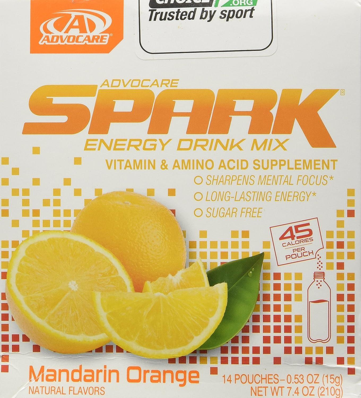 Advocare Spark Energy Drink 14-0.25 oz single serve pouches - Mandarin Orange