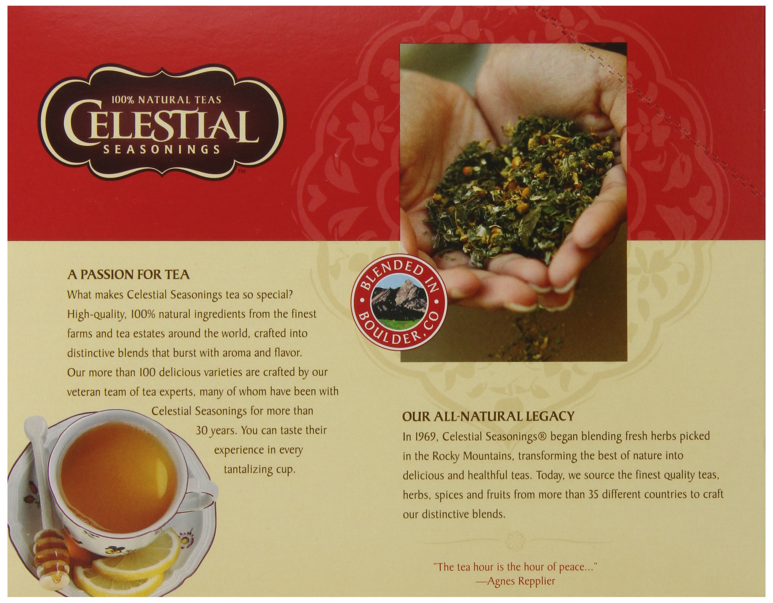 Celestial Seasonings India Spice Chai Tea, Single-Serve Keurig K-Cup Pods, Chai Flavored Tea, 96 Count
