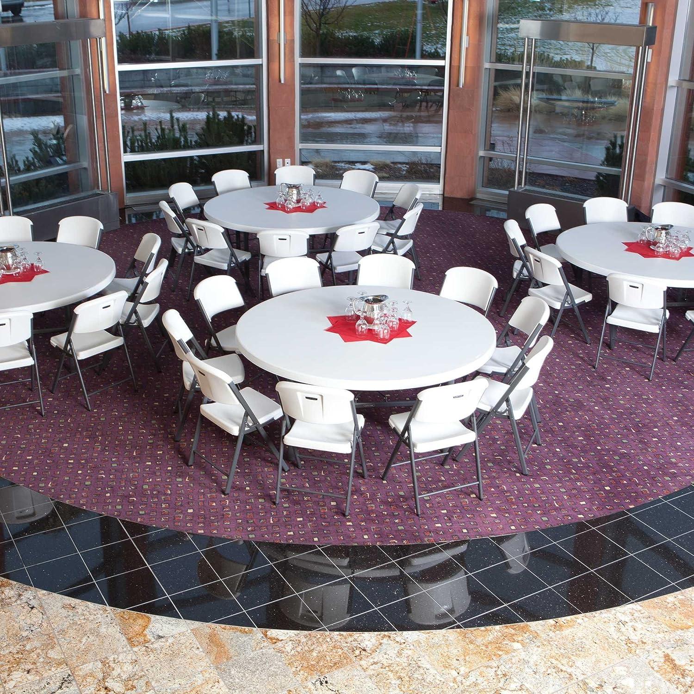 Amazon Lifetime Folding Round Table 6 Feet White