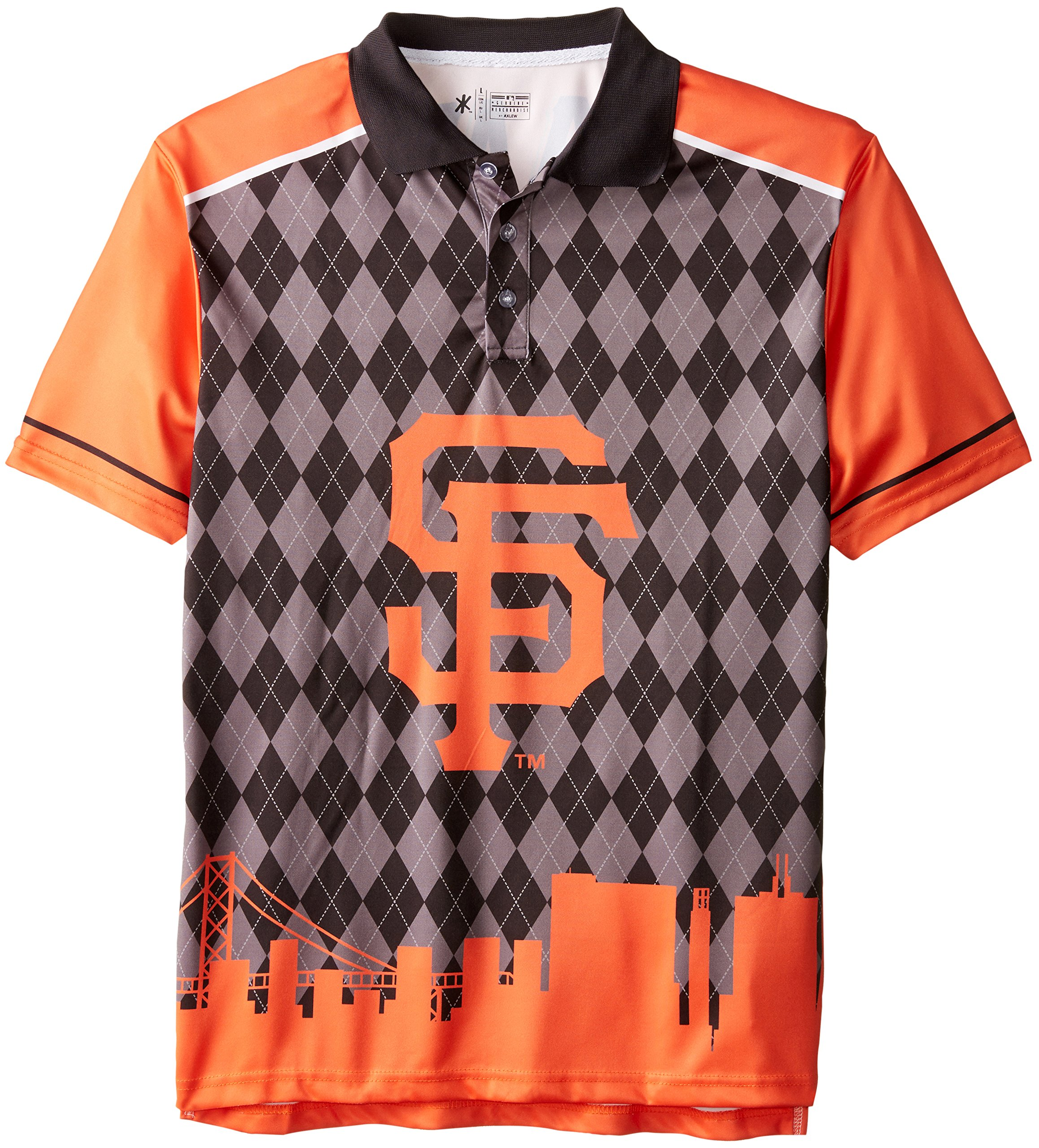 FOCO San Francisco Giants Polyester Short Sleeve Thematic Polo Shirt Extra Large by FOCO