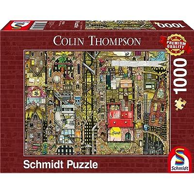 Schmidt Vista de población fantástica Colin Thompson Jigsaw Puzzle 1000 Piezas 59355: Juguetes y juegos
