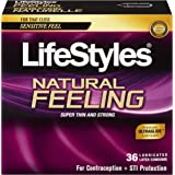 Lifestyles Natural Feeling Condoms, 36 Count