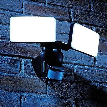 Auraglow Luces Reflectoras para Exteriores con Sensor PIR de Movimiento Infrarrojo para Mayor Seguridad de 46W
