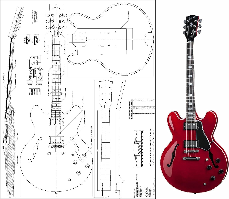Gibson ES-335 Jazz Archtop guitarra eléctrica Planes – Escala ...