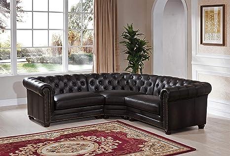 Amazon.com: Hydeline Aliso - Juego de sofás (100% piel ...