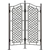 H Potter Large Trellis Wrought Iron Two Panel Ivy Garden Screen