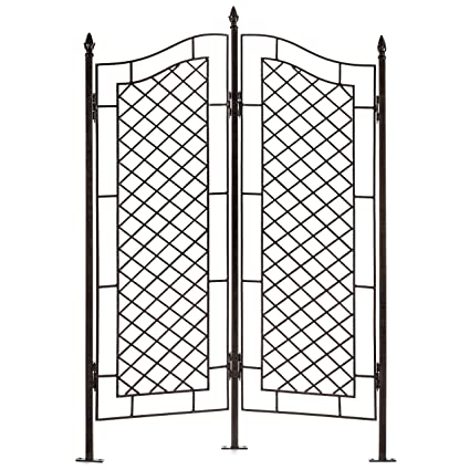 Charmant H Potter Large Trellis Wrought Iron Two Panel Ivy Garden Screen