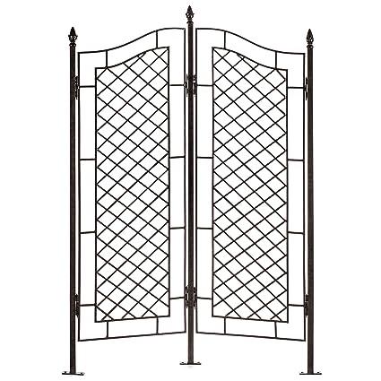 Etonnant H Potter Large Trellis Wrought Iron Two Panel Ivy Garden Screen