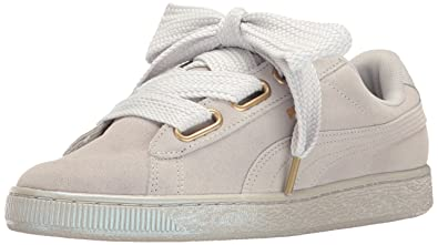 Puma Suede Heart Satin Womens Light Grey