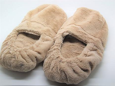 réchauffeur de pie con el perfume de la lavanda y los Zapatillas ...