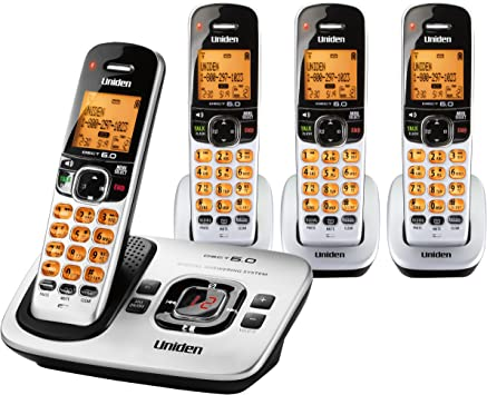 Uniden D1780-8 Cordless Phone w// Digital Answering System /& 7 Extra Handsets