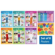 "World Religions - Set of 8 Religious Studies Posters | Classroom Posters for Religious Studies | Gloss Paper measuring 33"" x 23.5"" 