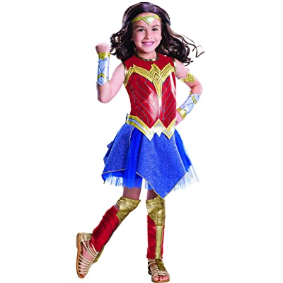 Wonder Woman Movie Child's Deluxe Costume, Small: Toys & Games