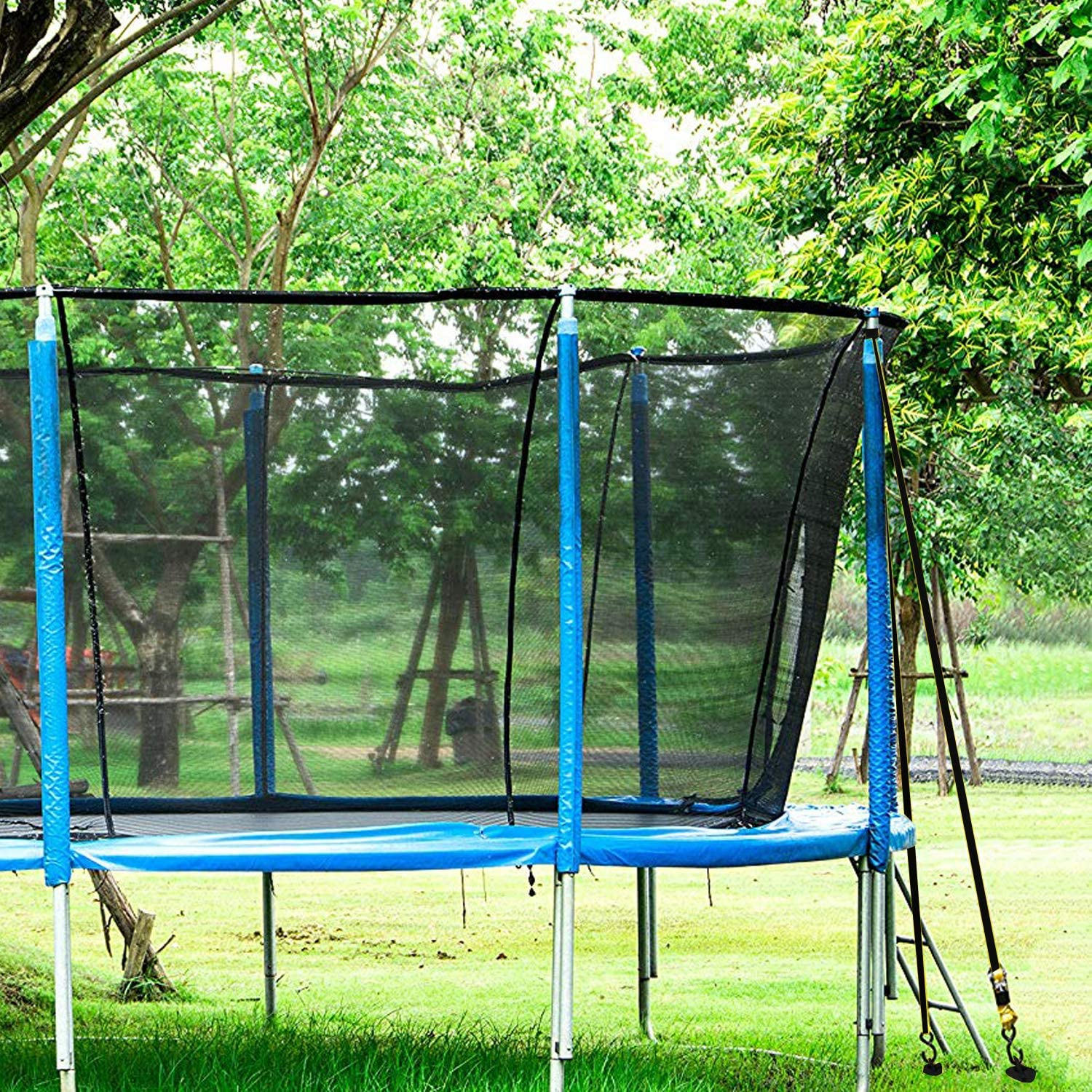 Tent Bonus tie-Downs for Tethering The Dog Portable Basketball Goal ABCCANOPY Spiral Ground Anchor with Dog Tie Out Trampoline Anchor Stakes for Anchor Swings Set Down