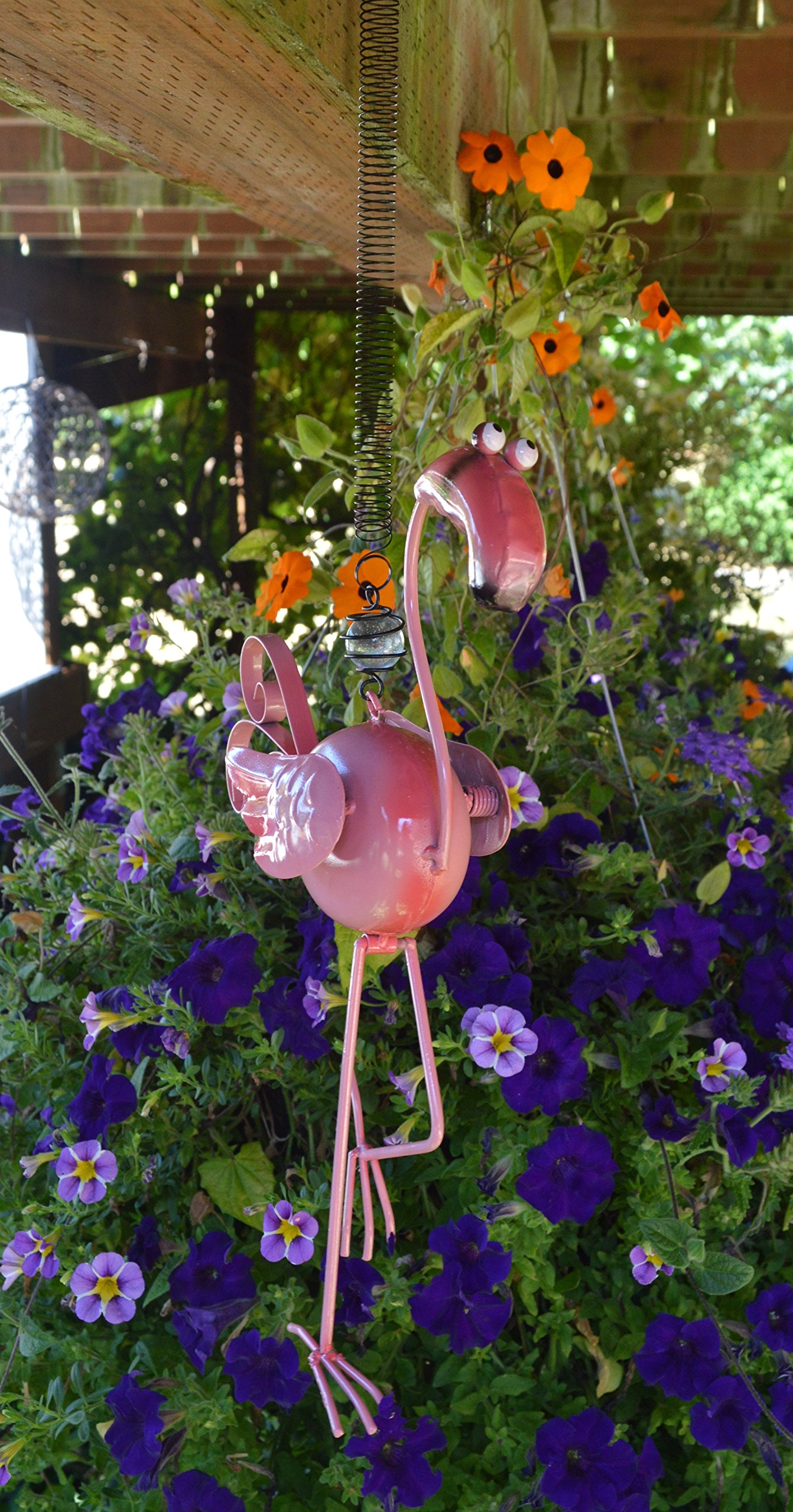 Sunset Vista Designs 91992 Bouncy Garden Decoration, 18'', Flamingo