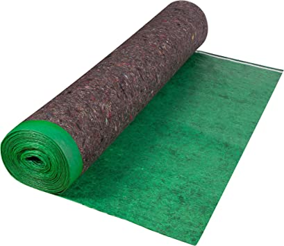 Roberts 70-193A Super 360 sq 60 in. x 72 ft. x 3 mm Felt Cushion Roll for Engineered Wood and Laminate Flooring Underlayment, Green