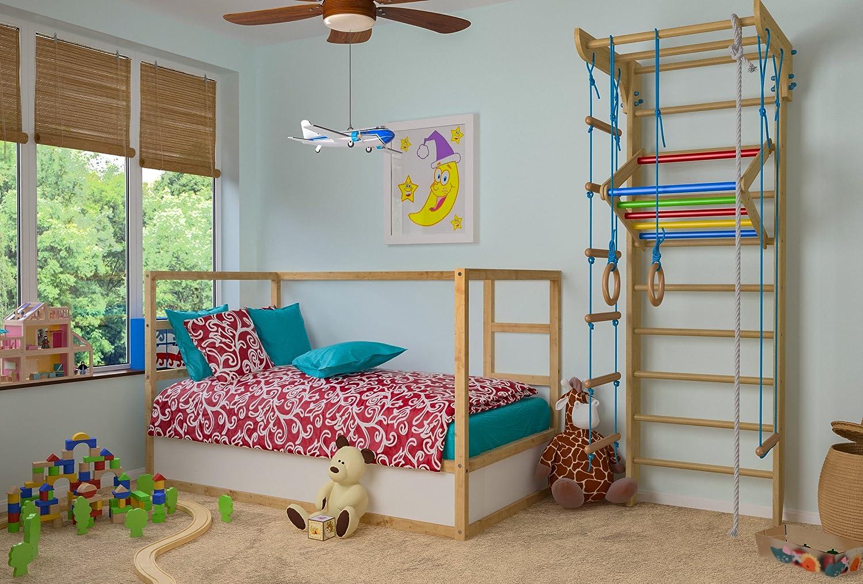 Klettergerüst Holz Kinderzimmer : Kletterwand sprossenwand turnwand kinder 4 220 farbe fitness
