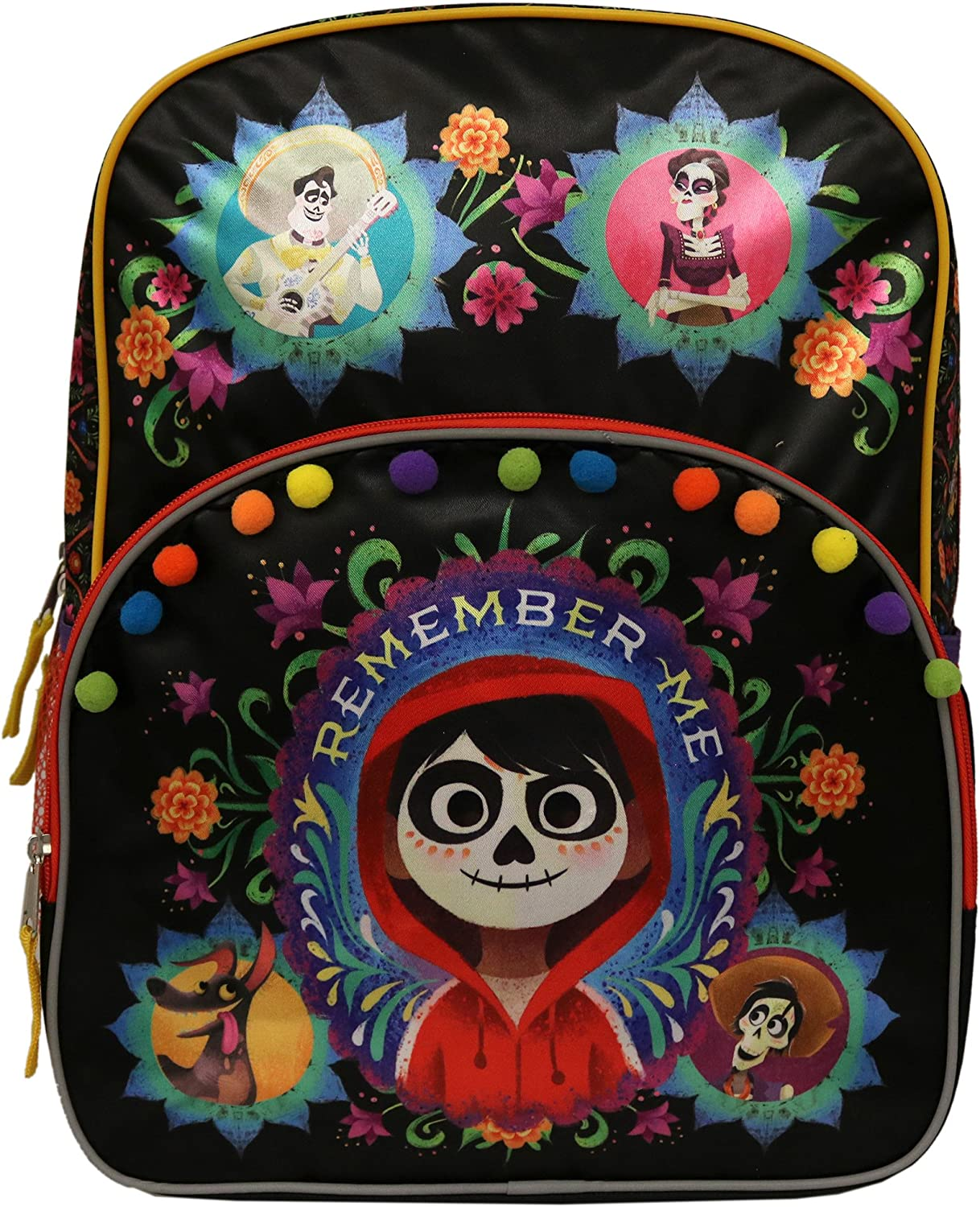 /'Remember Me/' Multi-Colored Book Bag Coco Backpack