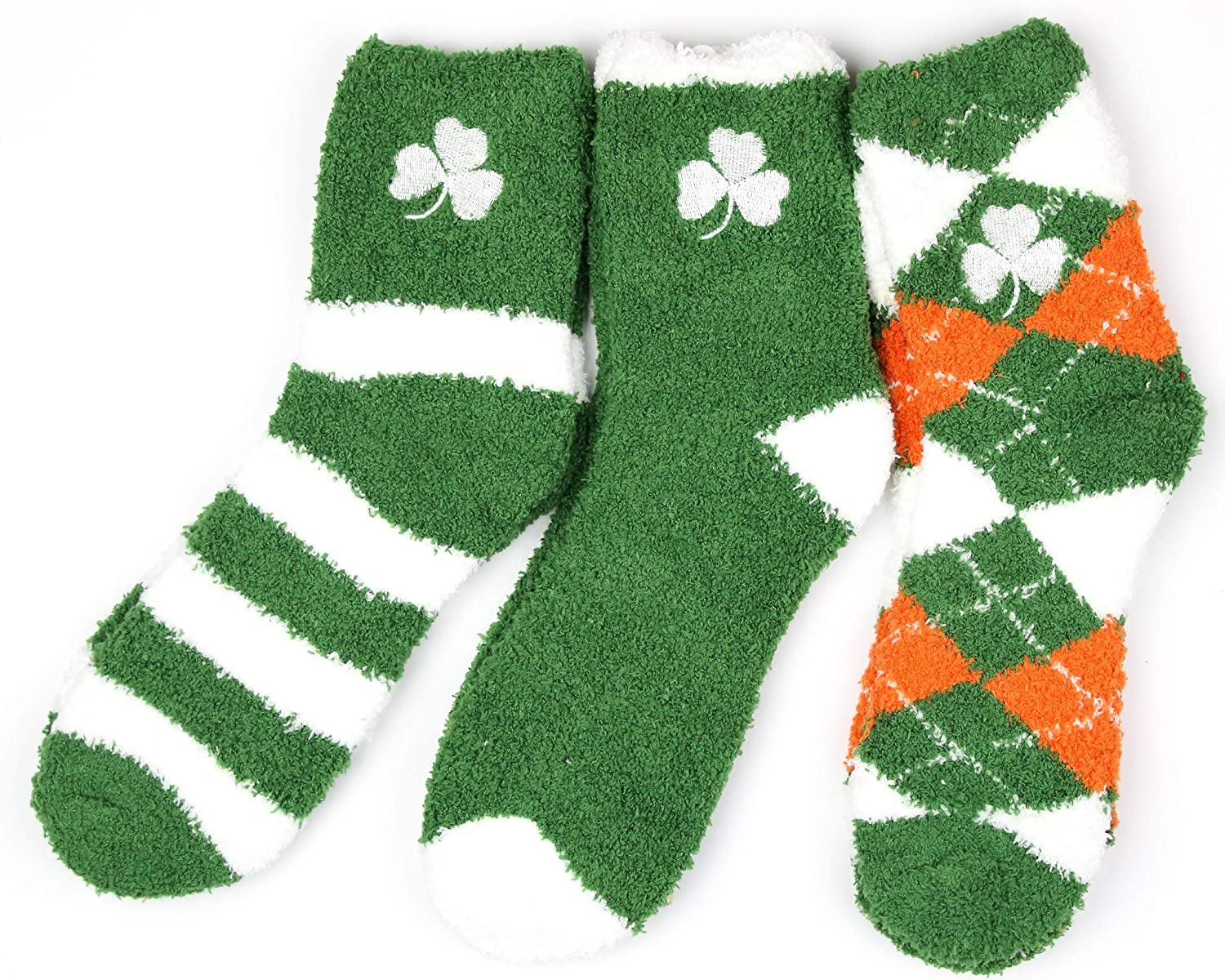 One Size Fits Most Donegal Bay NCAA Notre Dame Fighting Irish Irish 3 Piece Fuzzy Sock Bundle Multicolor