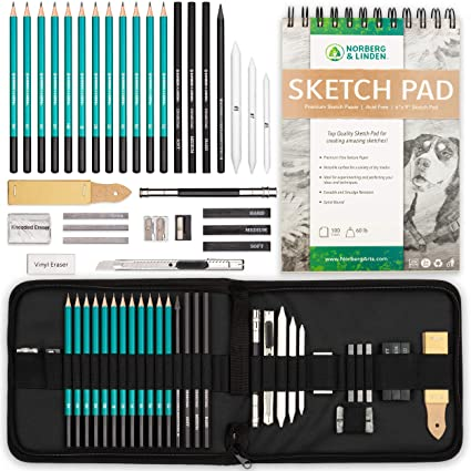 Amazon.com: Juego de arte profesional – lápices de dibujo ...