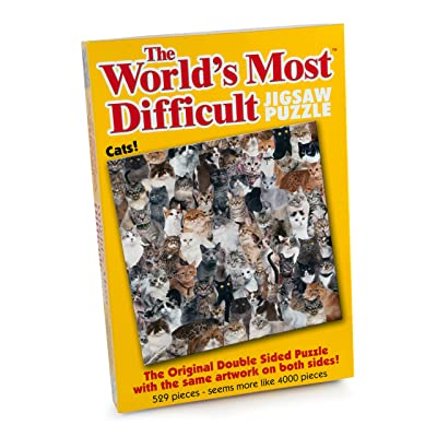 "Paul Lamond 5995 ""The World's Most Difficult Jigsaws/Cats Puzzle (529-Piece): Toys & Games"