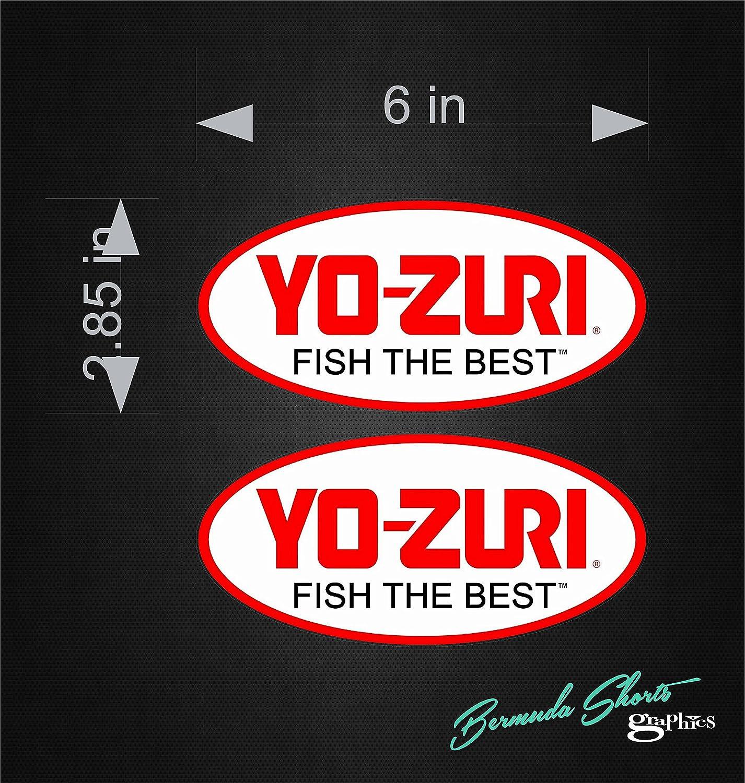 YO-ZURI SET OF 4 BOAT DECALS BOAT DECALS