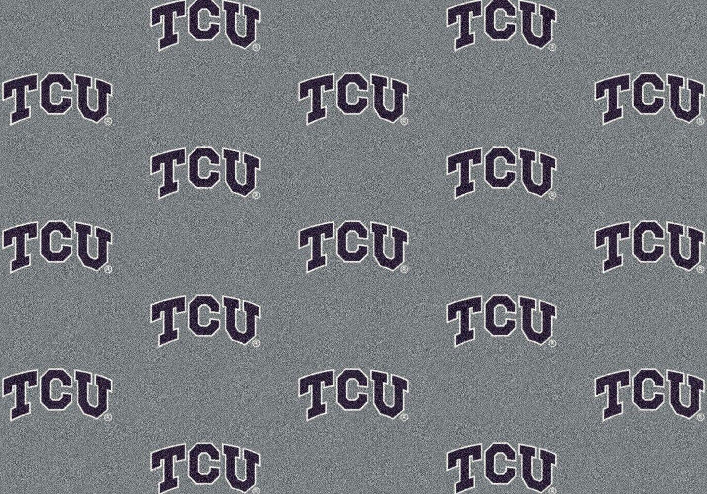 Texas Christian Horned Frogs NCAA Milliken Team Repeat Area Rug (5'4'' x 7'8'') by Milliken