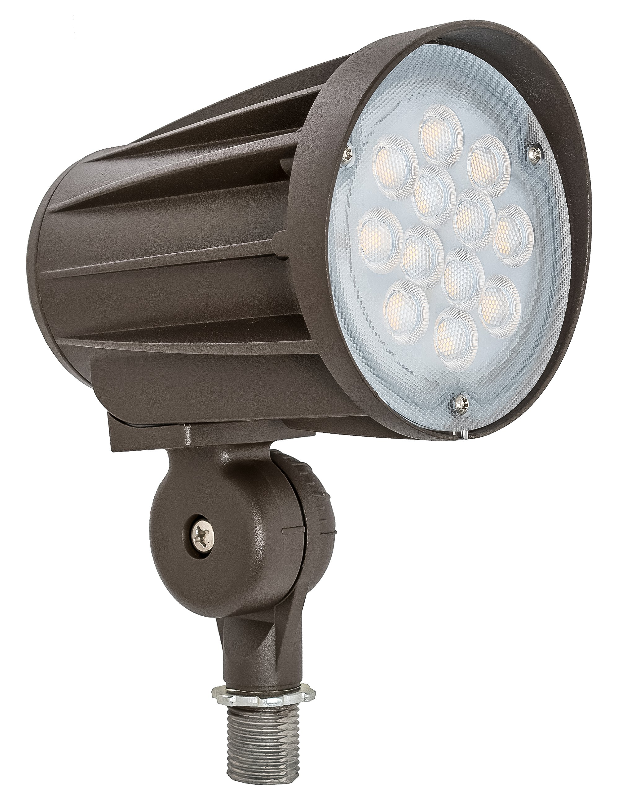 Westgate Lighting LED Outdoor Landscape Garden Bullet Flood Lights - Path Walkway Lawn Spotlights - Knuckle Mount - IP65 Waterproof - High Lumen - UL/DLC Listed - 120-277V (28W, 5000K Knuckle)