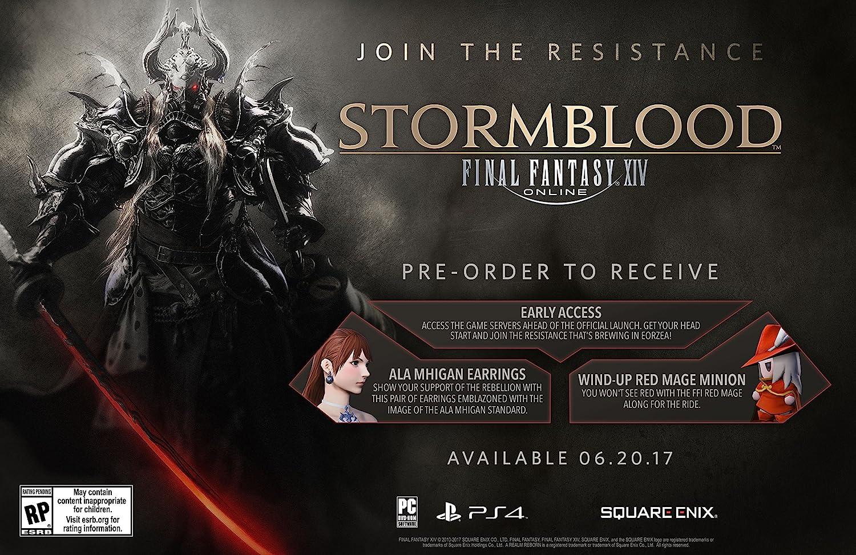 Amazon com: Final Fantasy XIV: Stormblood - PlayStation 4: Square