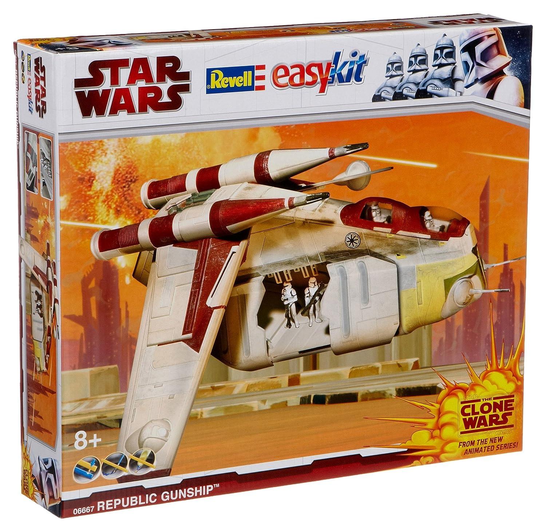 Revell easykit 06667 - Steckbausatz Star Wars Republic Gunship (Clone Wars) B001VEJ0RI Weltraumfahrzeuge Erste Qualität     | Maßstab ist der Grundstein, Qualität ist Säulenbalken, Preis ist Leiter