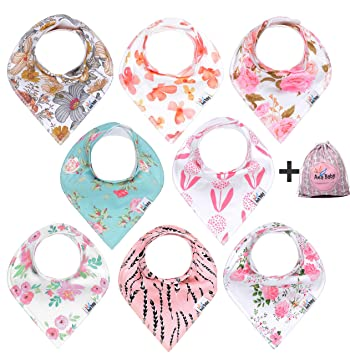 Unisex 8 Packs Baby Bibs for Drooling and Teething 100/% Organic Cotton Hypoallergenic Baby Bandana Drool Bibs Style D Soft and Absorbent Gift Set for Boys and Girls of 0-24 Months
