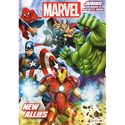 Marvel Heroes New Allies - Jumbo Coloring & Activity Book: Toys & Games